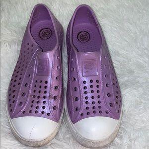Skechers girl shoes lilac purple size 13
